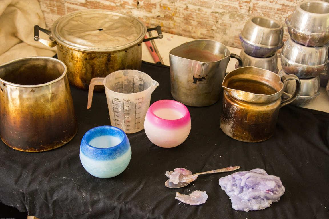 Utensilios de fabricación de cuencos artesanales de parafina